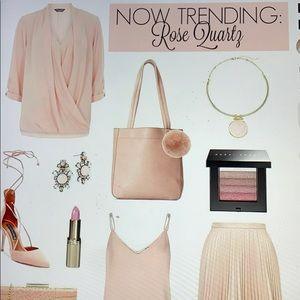 J. Crew Tops - NWT j crew blush pink silk blouse